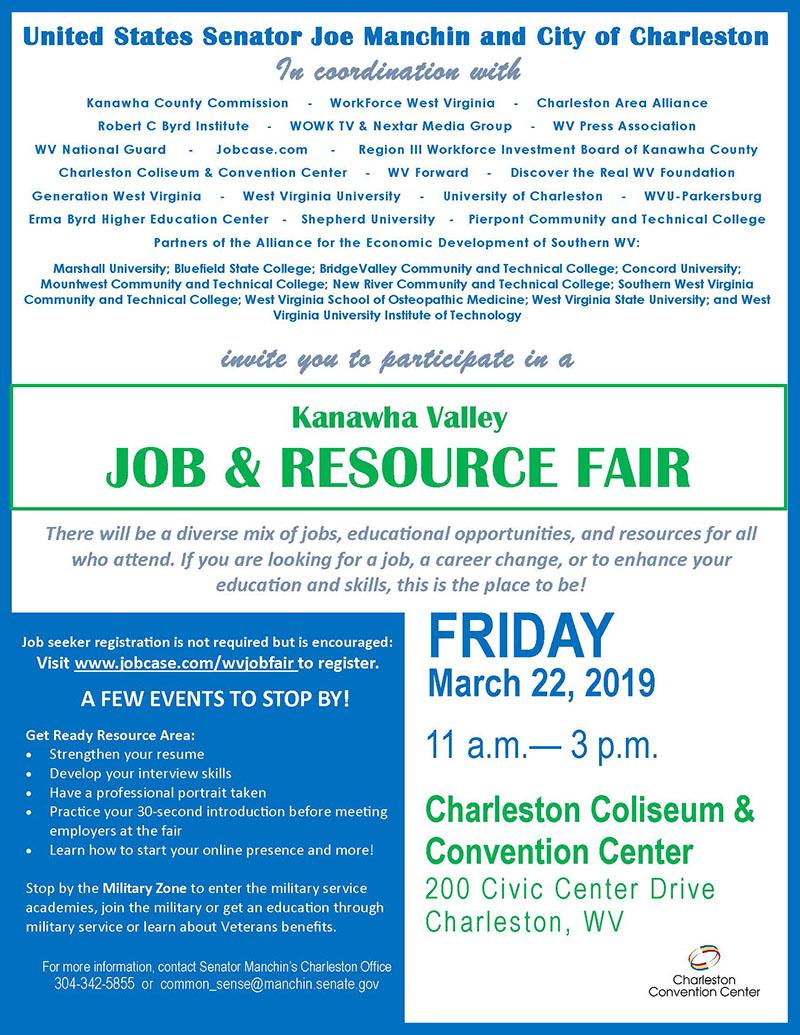 Charleston job fair flyer page 1
