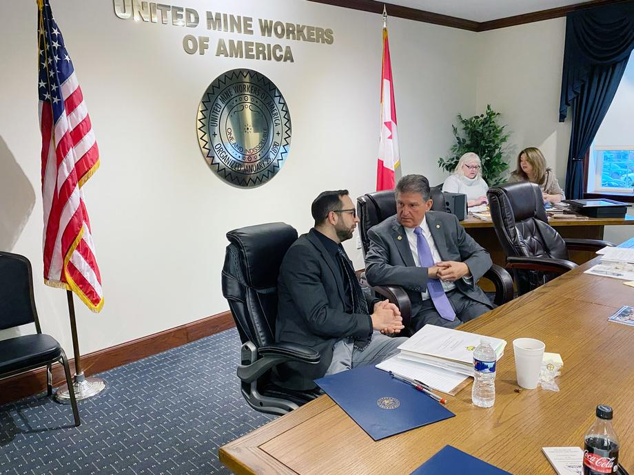 Sen. Joe Manchin Named Honorary UMWA Member
