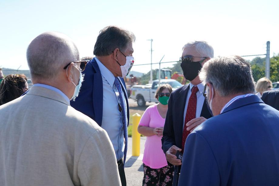 Sen. Joe Manchin attends Marshall University Bill Noe Flight School Groundbreaking