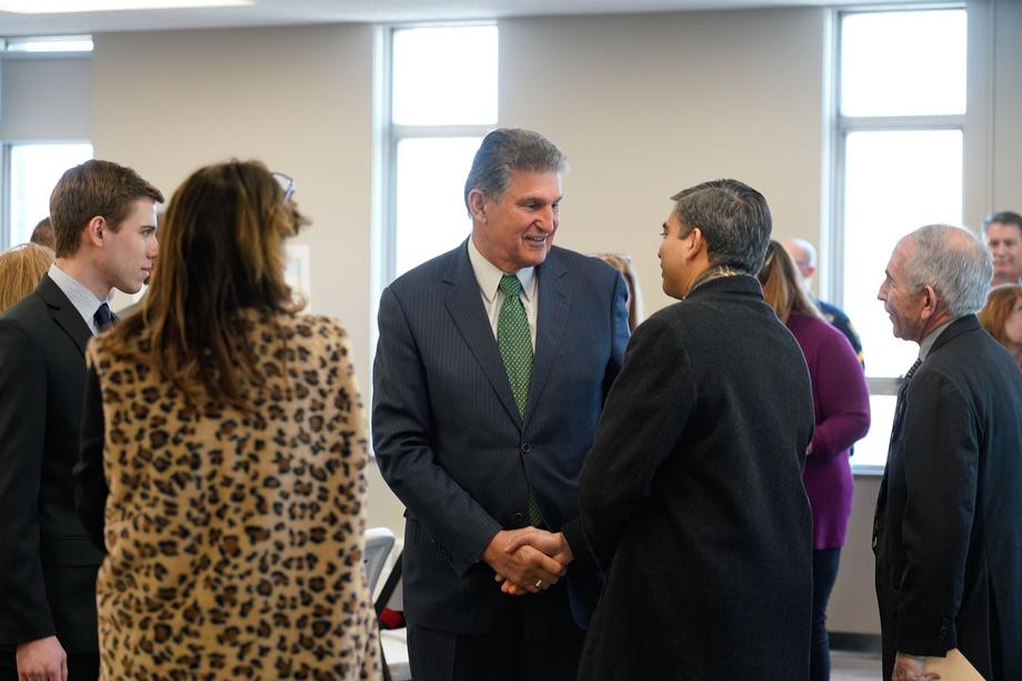 Sen. Joe Manchin Hosts Town Hall in Huntington