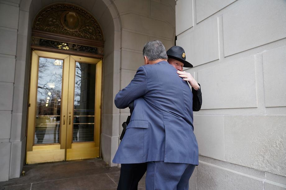 Sen. Joe Manchin Visits the West Virginia Capitol
