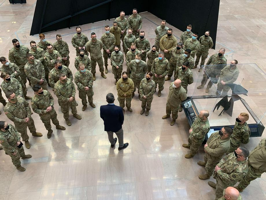 Manchin Gives WV National Guard Troops A Tour Of The Capitol